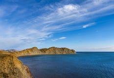 Camaleão do cabo, baía de Koktebel, o Mar Negro, Crimeia Imagem de Stock Royalty Free
