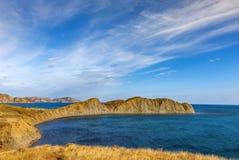 Camaleão do cabo, baía de Koktebel, o Mar Negro, Crimeia Fotos de Stock Royalty Free