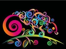 Camaleón abstracto ilustración del vector