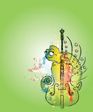 Camaleón coloreado Foto de archivo libre de regalías