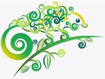 Camaleón verde abstracto stock de ilustración