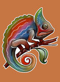 Camaleonte dell'arcobaleno illustrazione di stock