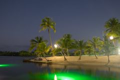 Camana Bay-The Island At Nighttime royalty free stock image
