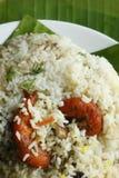 Camarão Biryani - uma combinação saboroso de camarão e do arroz basmati. Foto de Stock Royalty Free