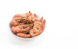 Camarão/camarão frescos foto de stock