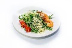 Camarão com vegetais Foto de Stock