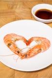 Camarão cozinhado Foto de Stock