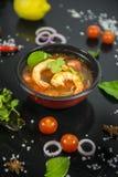Camarão de Tom yum esta culinária imagens de stock royalty free