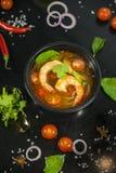 Camarão de Tom yum esta culinária imagem de stock