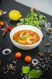 Camarão de Tom yum esta culinária fotografia de stock