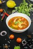 Camarão de Tom yum esta culinária imagem de stock royalty free