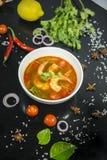 Camarão de Tom yum esta culinária fotos de stock