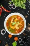 Camarão de Tom yum esta culinária foto de stock royalty free