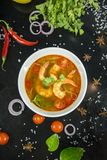 Camarão de Tom yum esta culinária foto de stock