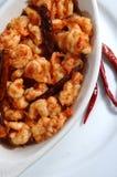Camarão em pimentas quentes Imagem de Stock Royalty Free