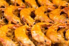 Camarão fritado camarão-delicioso fritado Foto de Stock Royalty Free