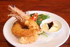 Camarão fritado Imagens de Stock