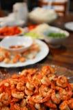 Camarão fritado em uma placa Imagens de Stock Royalty Free