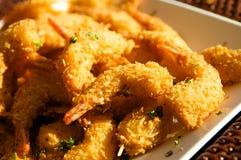 Camarão fritado fresco delicioso Foto de Stock Royalty Free