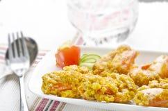 Camarão fritado saboroso Imagem de Stock