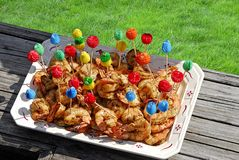 Camarão grelhado Imagem de Stock Royalty Free