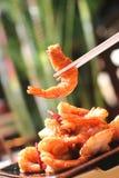 Camarão grelhado Fotografia de Stock
