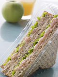 Camarão Marie Rosa e sanduíche da salada Fotos de Stock