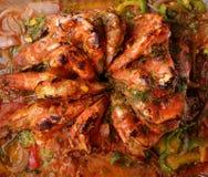 Camarão no forno imagens de stock