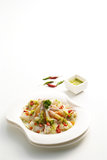 Camarão no molho de peixes Imagem de Stock