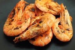 Camarão ou camarão grelhado Fotos de Stock