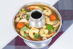Camarão picante e ácido Tom yum Fotografia de Stock