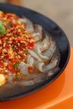 Camarão picante fresco do cal - alimento de Ásia Imagens de Stock
