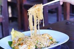 Camarão tailandês do macarronete imagens de stock royalty free