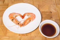 Camarón cocinado Foto de archivo libre de regalías