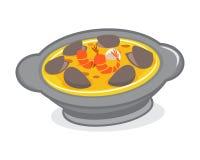 Camarón de la sopa del Bowlful Imagen de archivo
