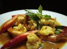 Camarón del curry. Foto de archivo libre de regalías
