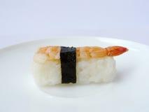 Camarón del sushi con alga marina Foto de archivo
