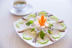 Camarón en salsa de pescados Imagen de archivo libre de regalías