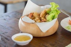 Camarón frito Foto de archivo libre de regalías