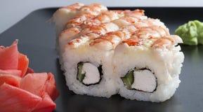 Camarón japonés del arroz de sushi; Imagen de archivo
