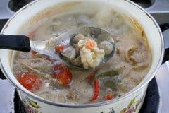 Camarón picante para cocinar Tailandia Fotos de archivo libres de regalías