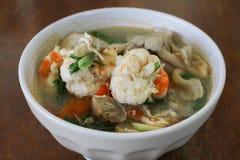 Camarón picante para cocinar Tailandia Fotografía de archivo