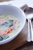 Camarón y sopa de fideos Fotos de archivo