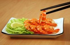 Camarões cozinhados Imagem de Stock Royalty Free