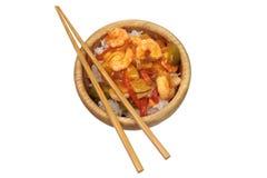 Camarões doces e ácidos asiáticos Fotos de Stock