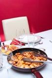 Camarões fritados Fotografia de Stock
