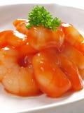 Camarões fritados asiáticos Fotos de Stock