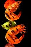 Camarões grelhados Imagens de Stock Royalty Free