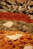 Camarões, polvo e peixes Fotografia de Stock