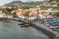 Camara在丰沙尔,马德拉岛海岛附近的de罗伯斯 库存图片